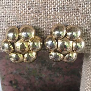 Vintage Metal Goldtoned Clip Earrings
